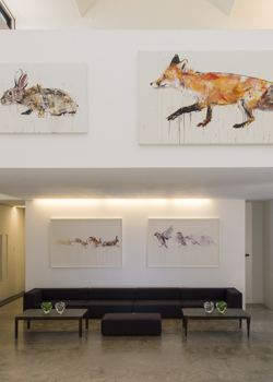 Dave White, Albion, Rabbit, Fox, Flying Sparrows, Running Hare