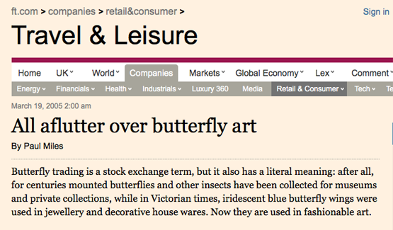 Permalink to Nick Jeffrey Financial Times Butterflies
