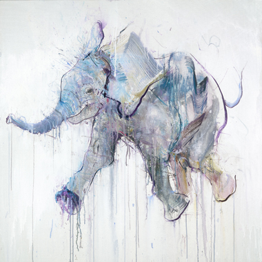 Young Elephant VII - Dave White