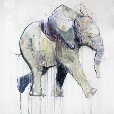 Young Elephant VIII - Dave White