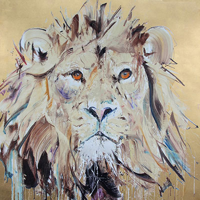 Lion II [Gold Leaf] - Dave White