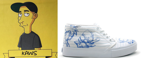 Kaws X Vans The Simpsons Sneakers Theartgorgeous