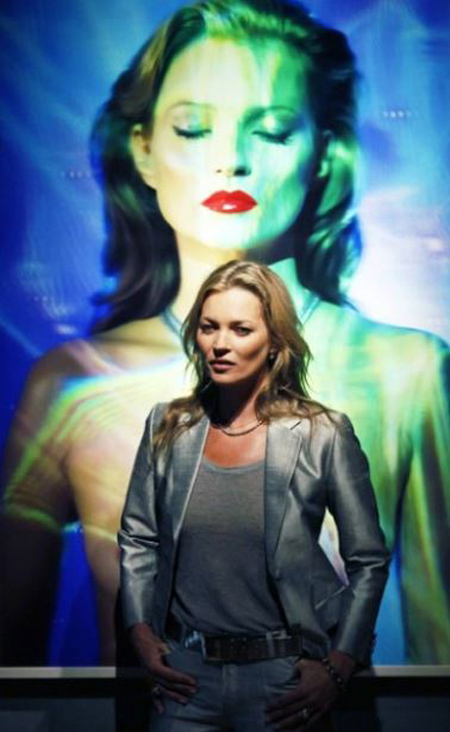 Kate Moss At The Fine Art Society 2013
