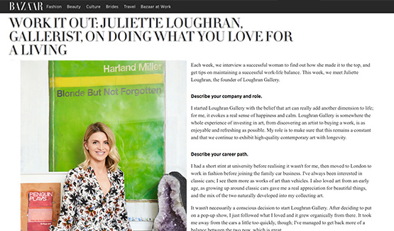 Harpers Bazaar interview Juliette Loughran
