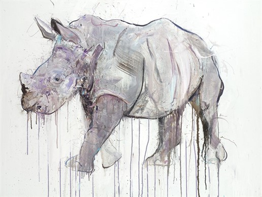 Rhino Oil On Linen Website