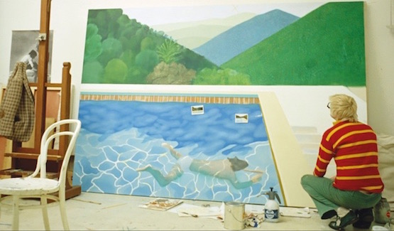 David Hockney's pool with Two Figures