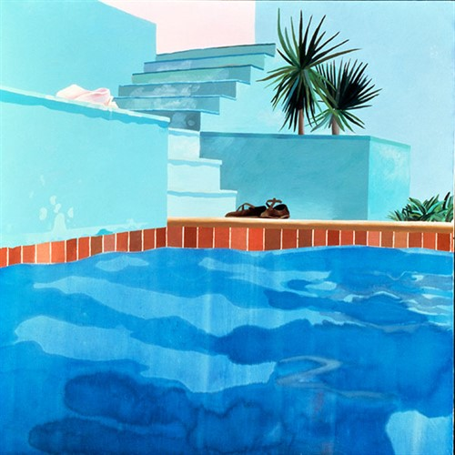 David Hockney Exhibit Pool And Steps Le Nid Du Duc 71A22