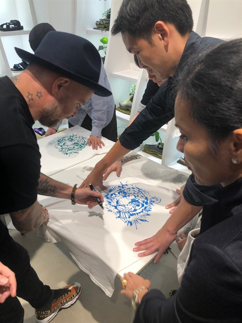 Dave White Personalising An Atmos X Dave White Collaboration Tee