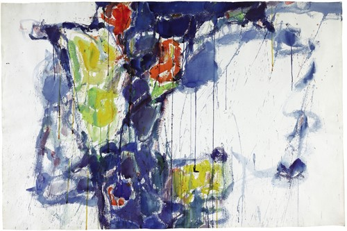 Sotheby S Contemporary Curated Sale Lot 34 Sam Francis Untitled Cool Violet
