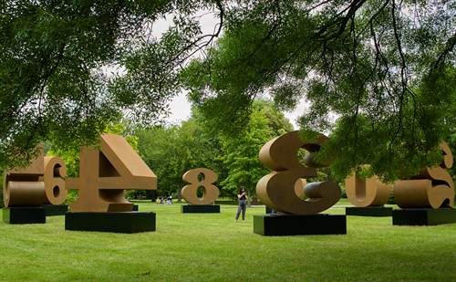 Robert Indiana One Through Zero 1980 2002 Waddington Custot Frieze Sculpture 2019