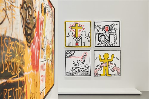 Keith Haring Jean Michel Basquiat Crossing Lines 3