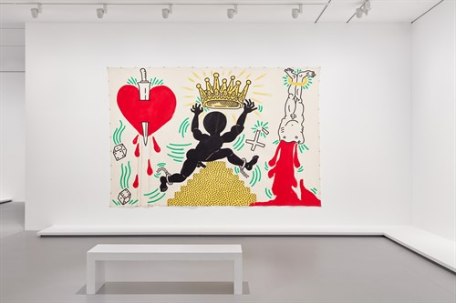 Keith Haring Jean Michel Basquiat Crossing Lines 5