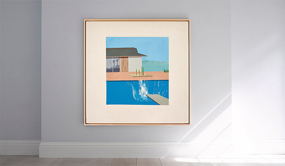 Permalink to David Hockney's The Splash is going on sale