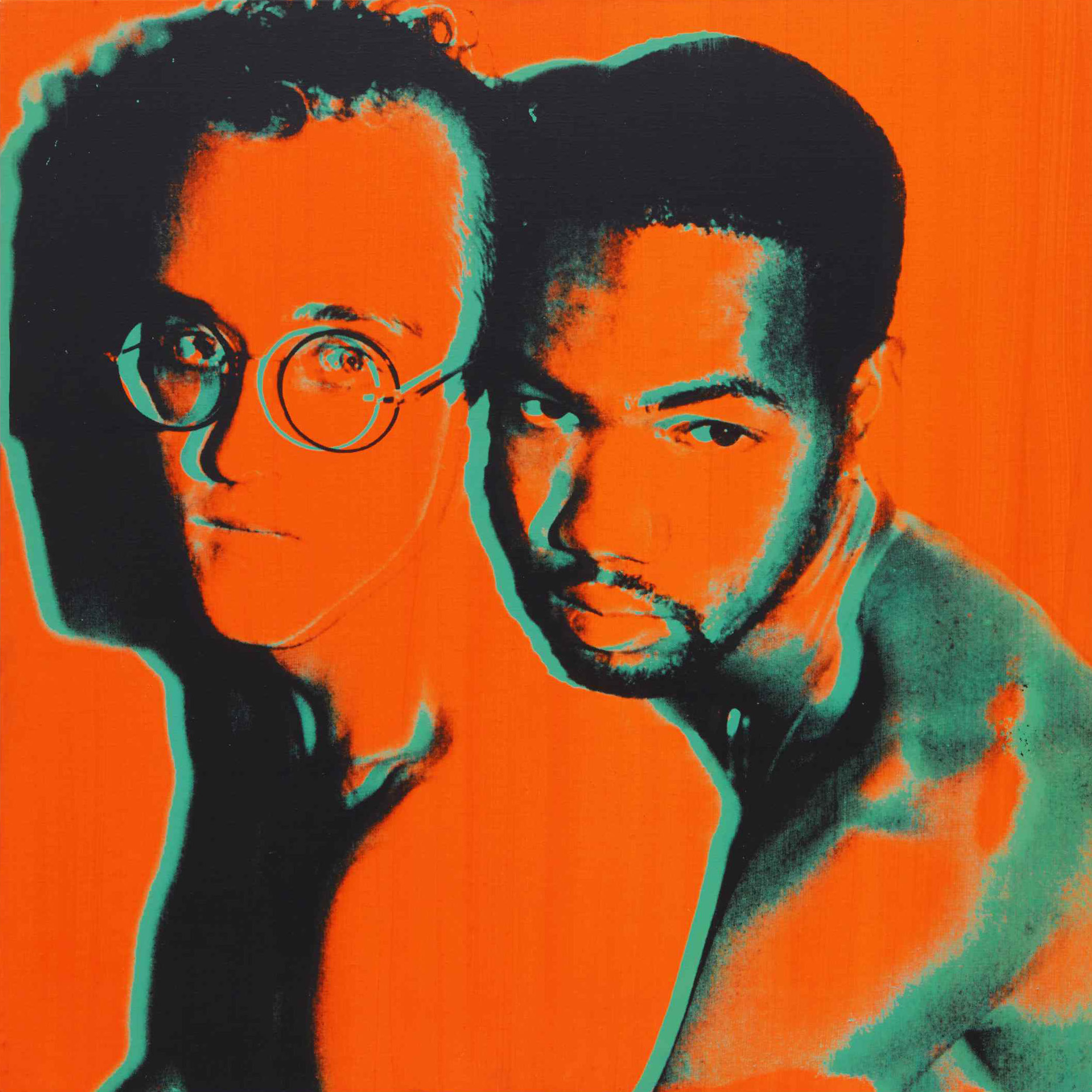 Andy Warhol, Portrait of Keith Haring and Juan DuBose