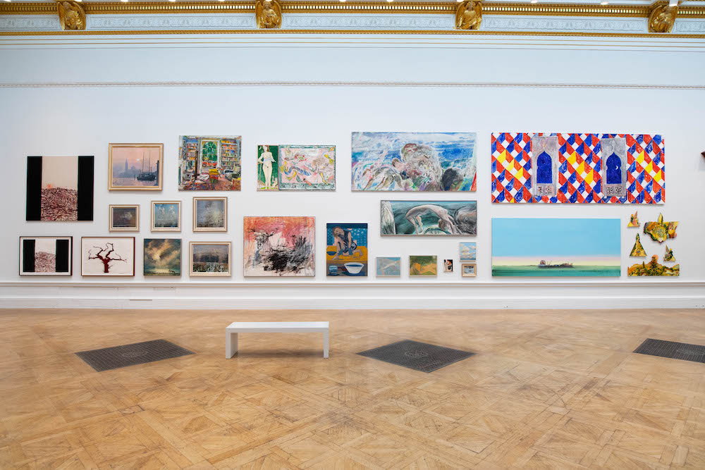 Installation view of the Summer Exhibition 2020