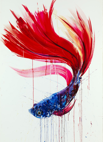 Fighting Fish III - Dave White